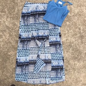 Maurice's Blue Maxi Skirt